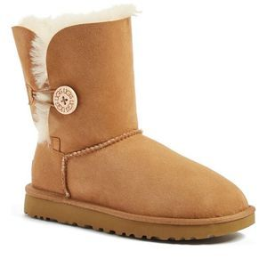 Ugg W Bailey Button 5803 Tan Boots Size 7